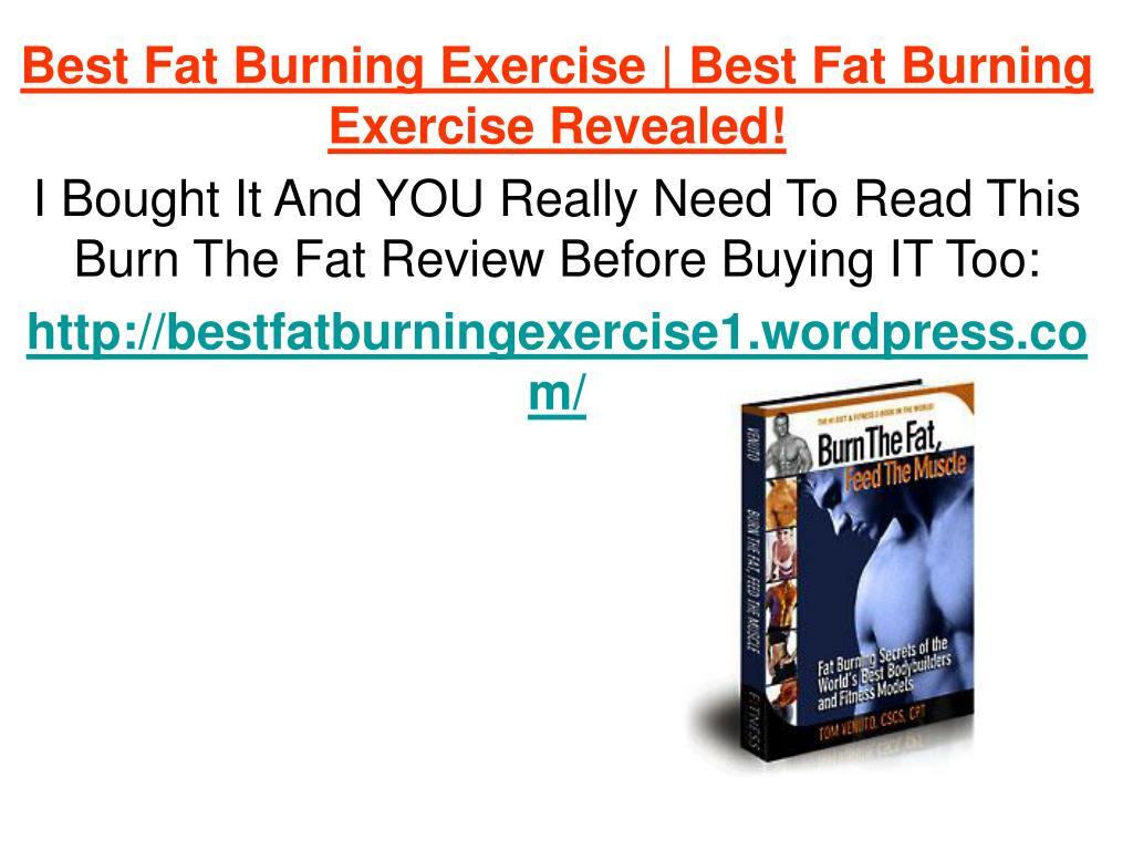 Best Fat Burning Exercise | Best Fat Burning Exercise Revealed!