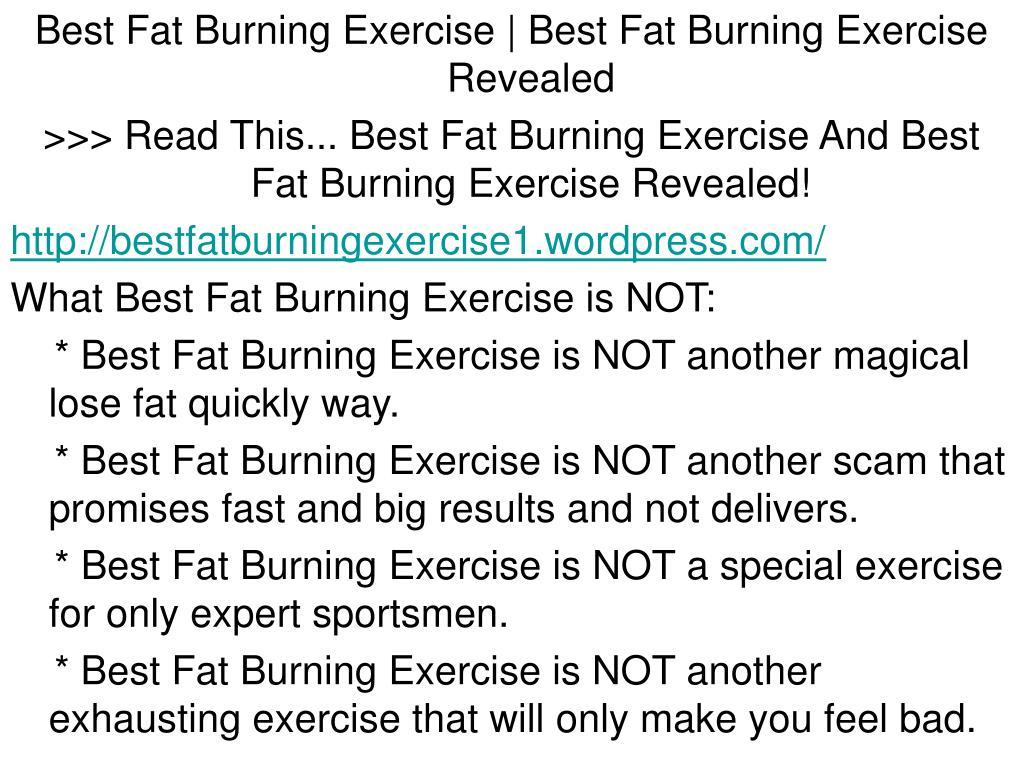 Best Fat Burning Exercise | Best Fat Burning Exercise Revealed
