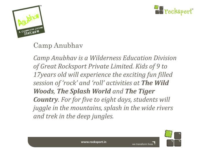 Camp Anubhav