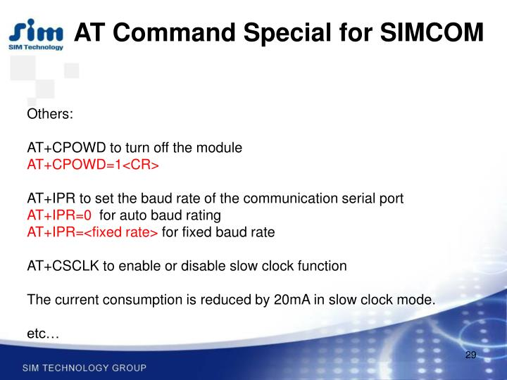 AT Command Special for SIMCOM