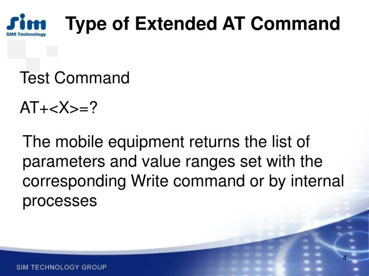 Type of Extended AT Command