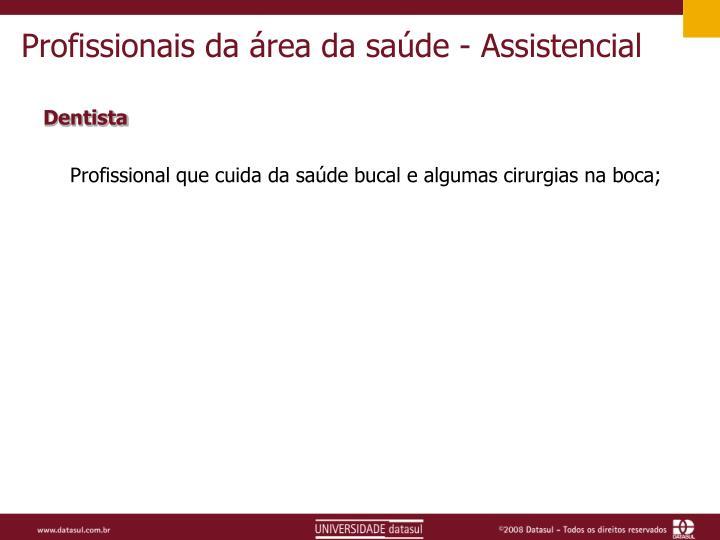 Profissionais da área da saúde - Assistencial