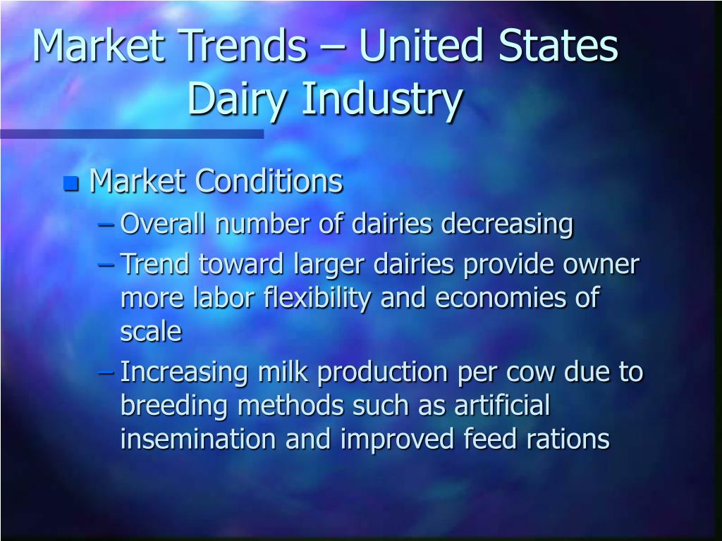 Market Trends – United States Dairy Industry