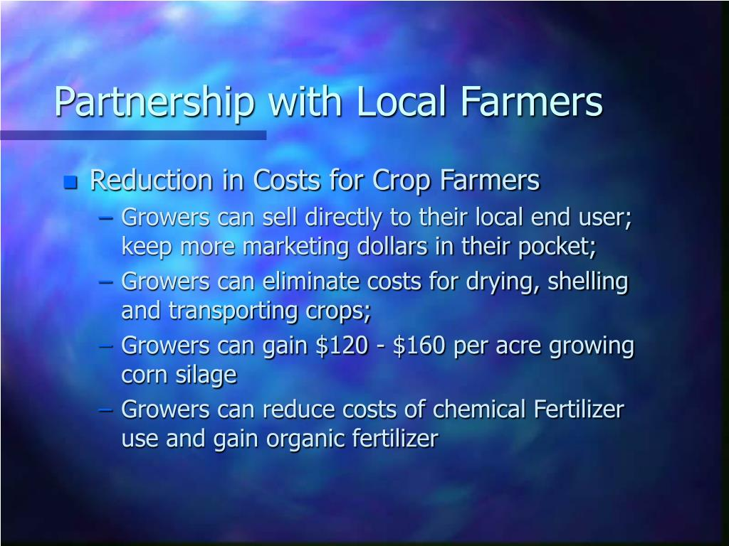 Partnership with Local Farmers