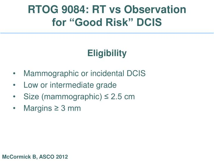 RTOG 9084: RT vs Observation