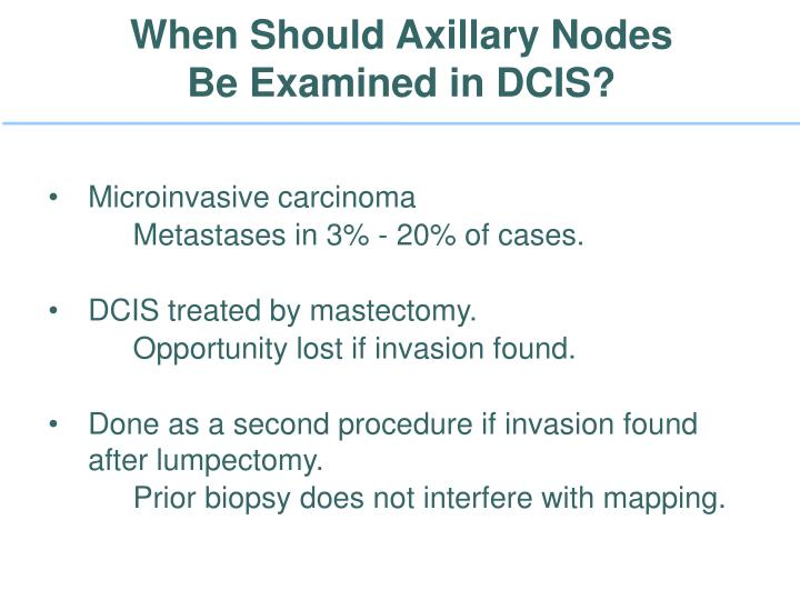 When Should Axillary Nodes