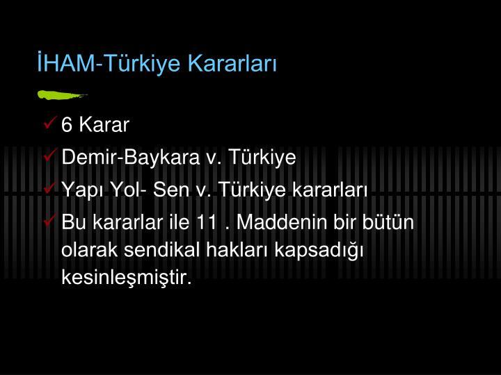 İHAM-Türkiye Kararları