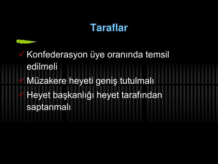 Taraflar
