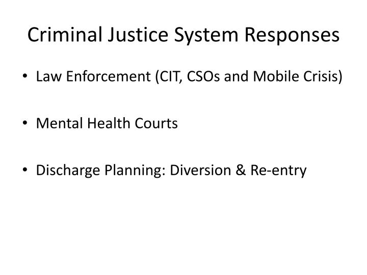 Criminal Justice System Responses