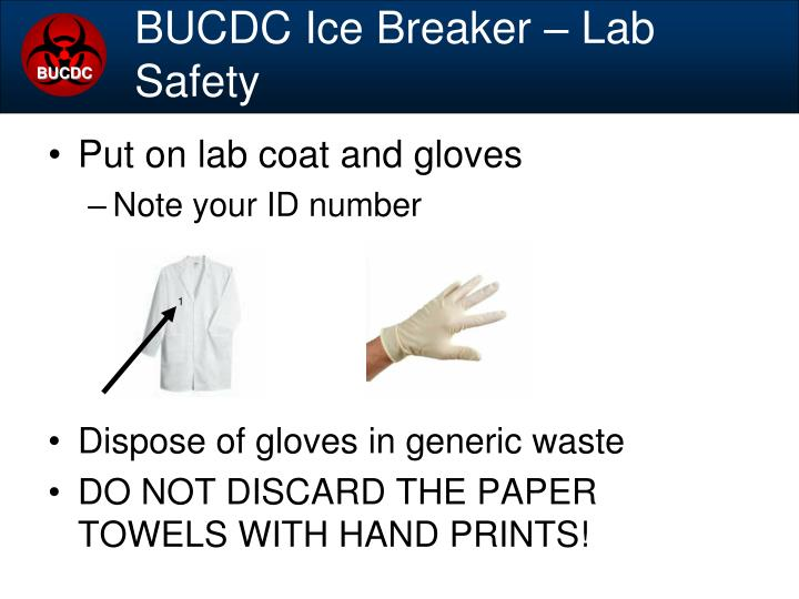 BUCDC Ice Breaker – Lab Safety