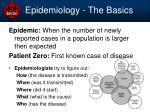 epidemiology the basics
