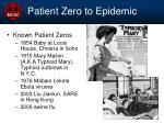 patient zero to epidemic
