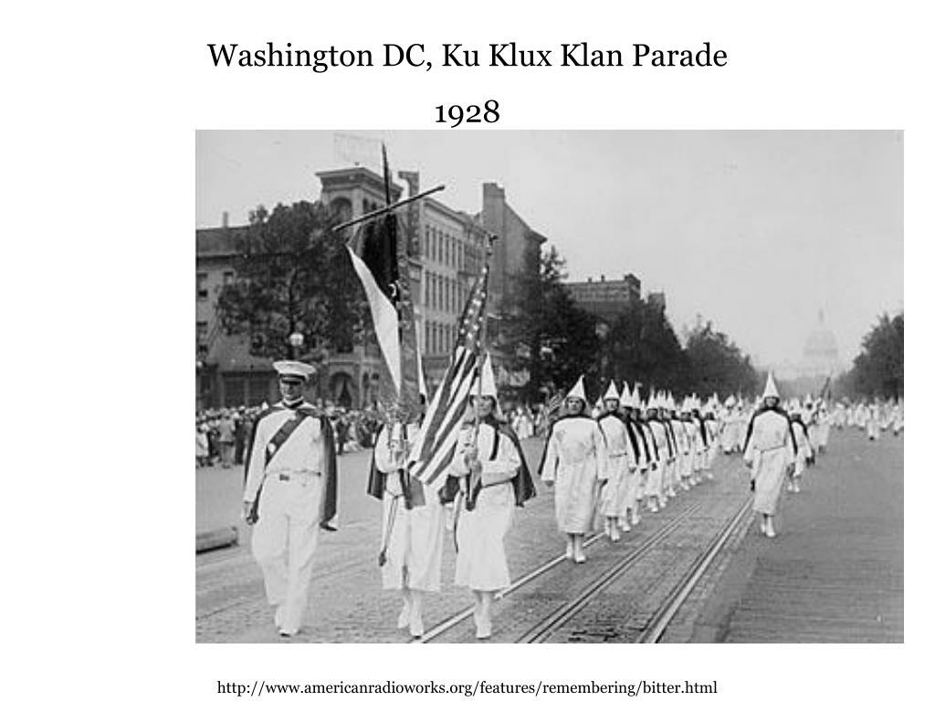 Washington DC, Ku Klux Klan Parade