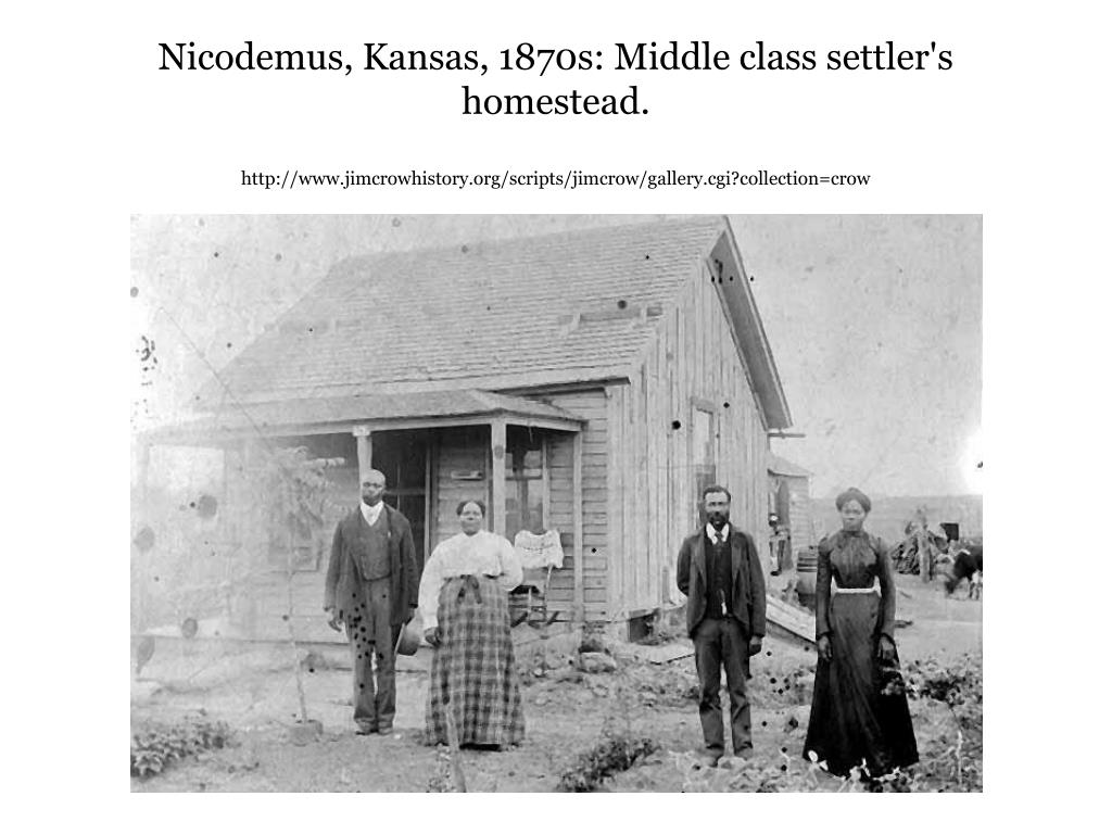 Nicodemus, Kansas, 1870s: Middle class settler's homestead.