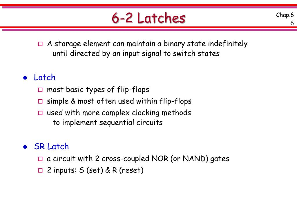 6-2 Latches
