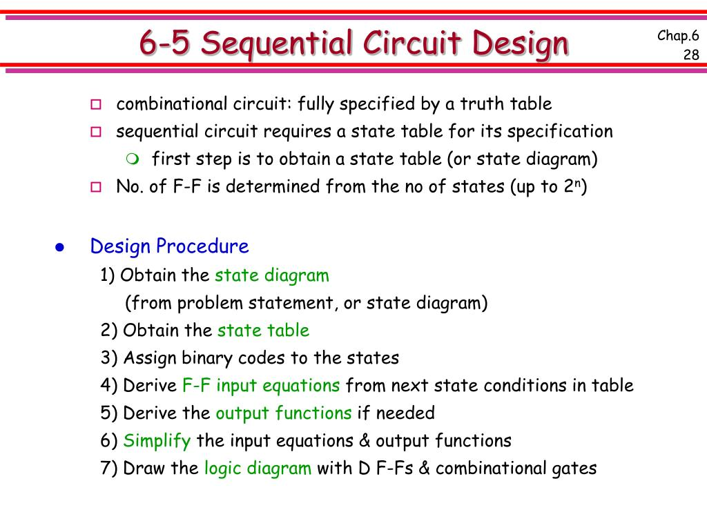 6-5 Sequential Circuit Design