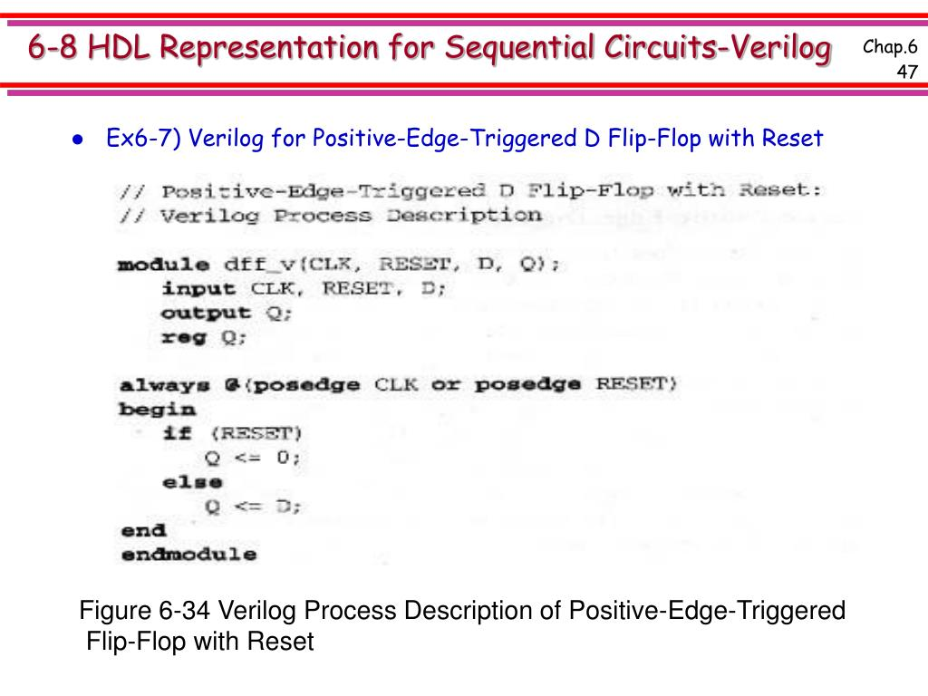 6-8 HDL Representation for Sequential Circuits-Verilog