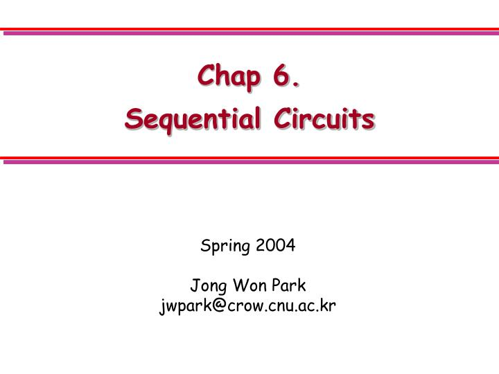 Chap 6 sequential circuits