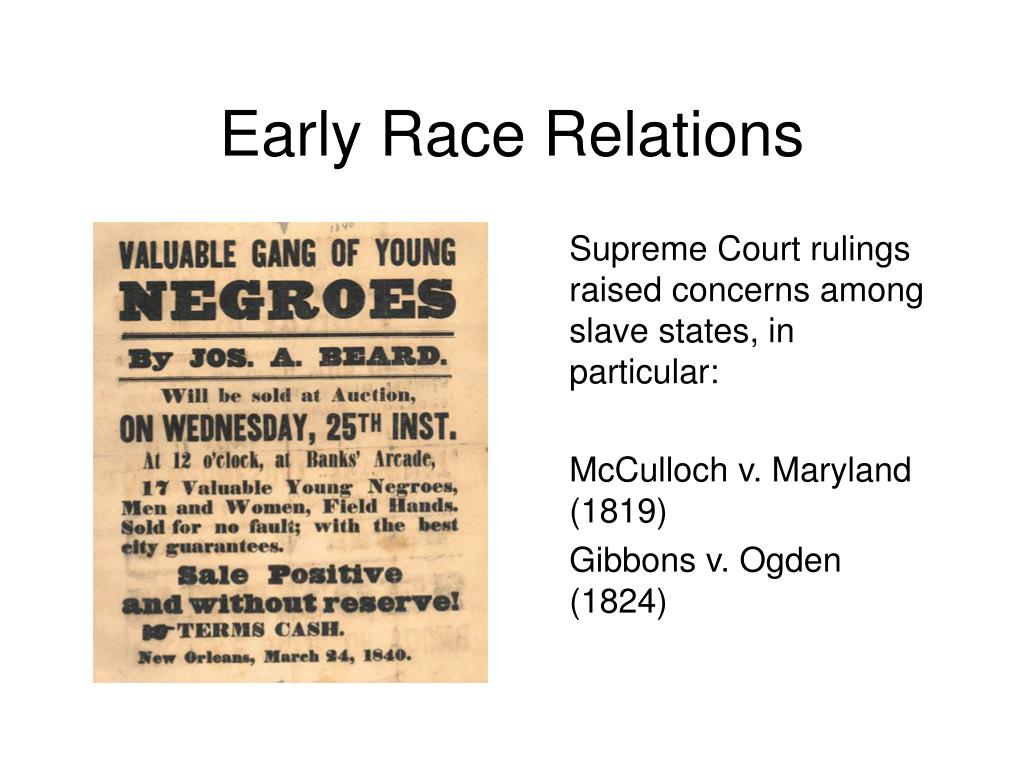 Early Race Relations