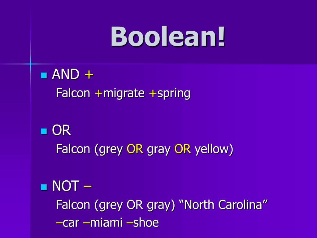 Boolean!