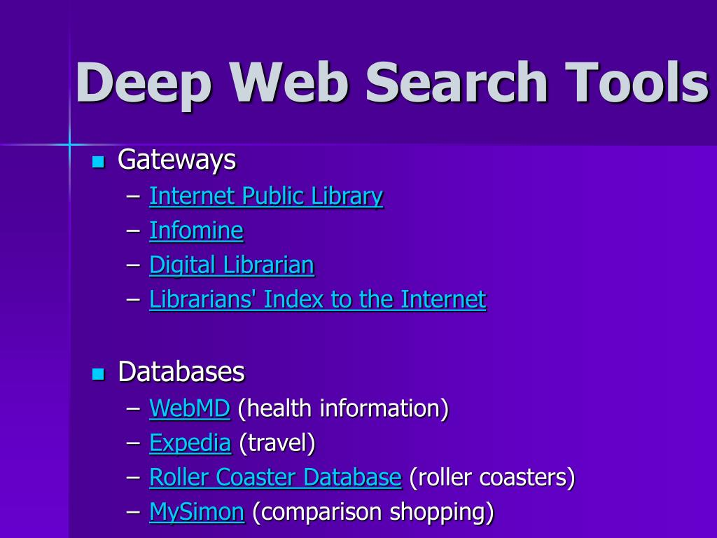 Deep Web Search Tools