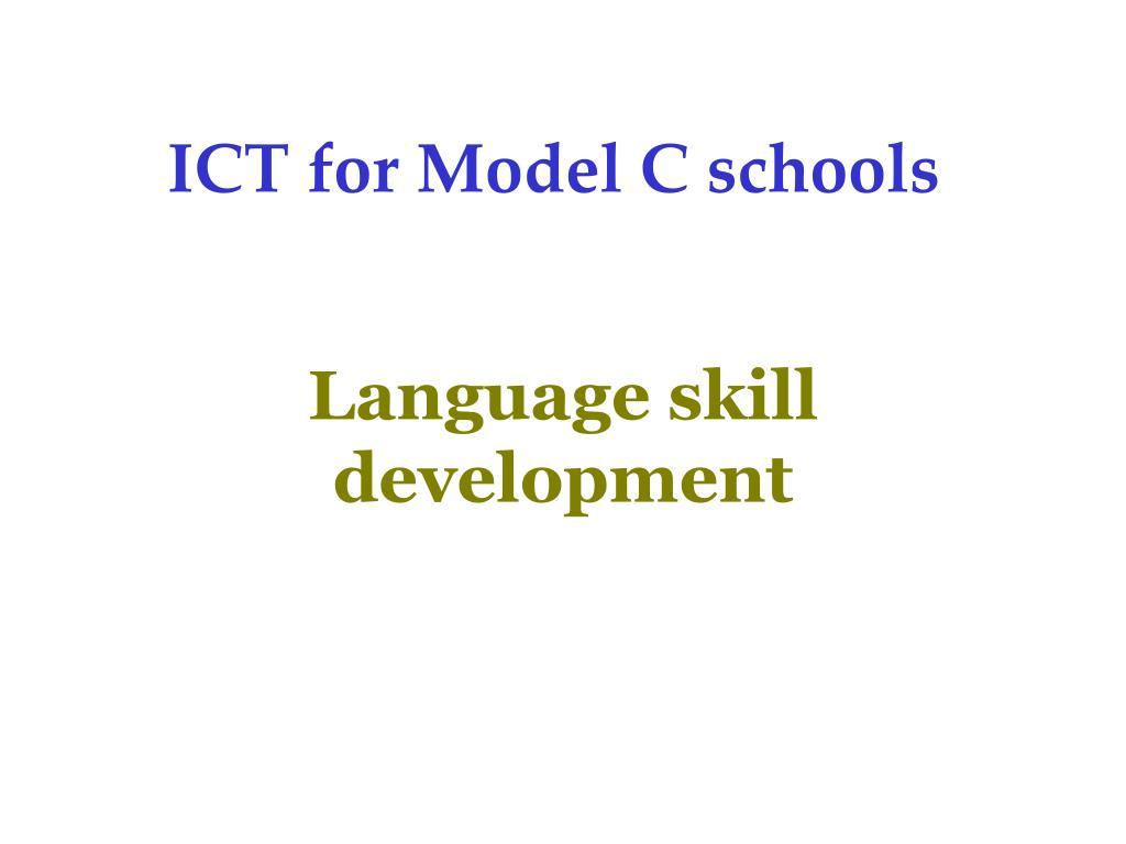 ICT for Model C schools