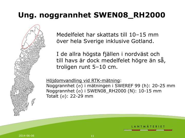 Ung. noggrannhet SWEN08_RH2000