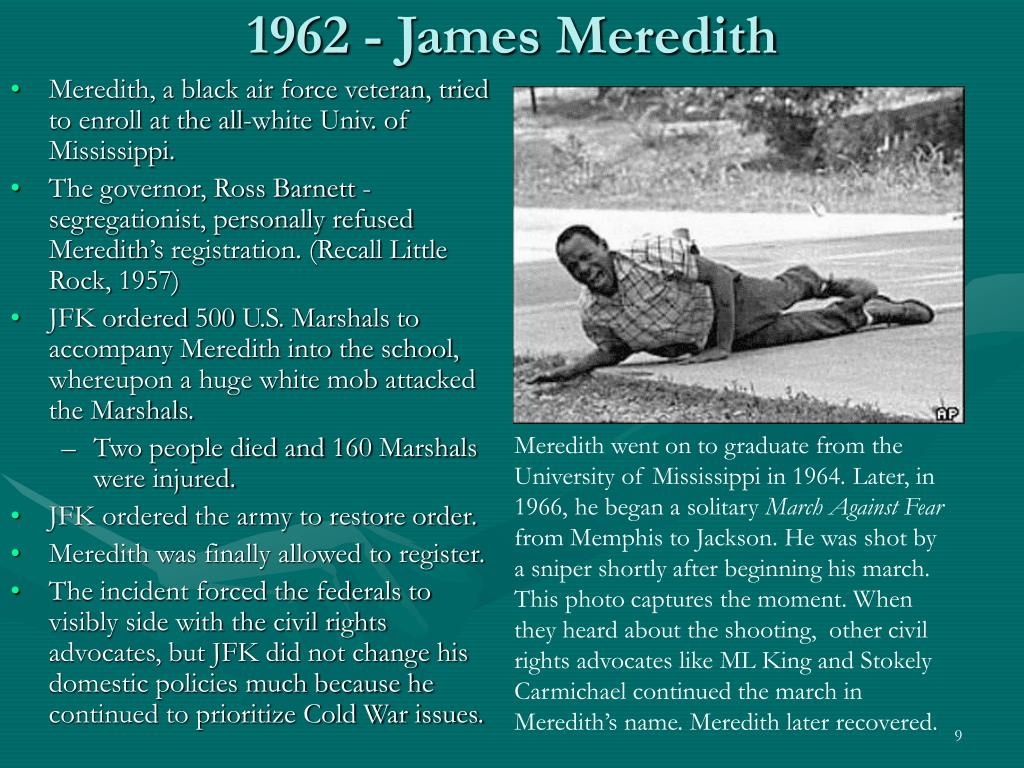 1962 - James Meredith