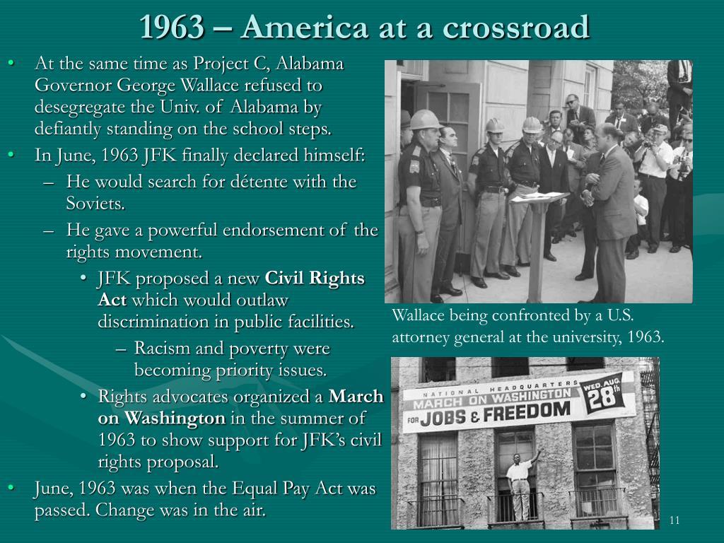 1963 – America at a crossroad