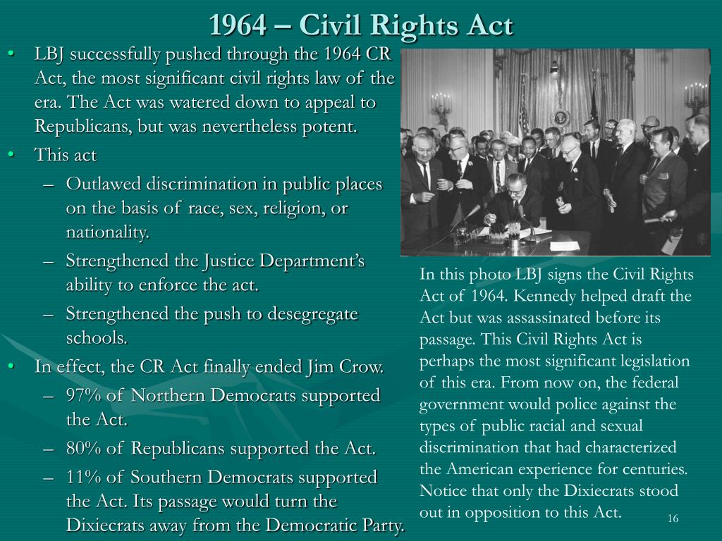 1964 – Civil Rights Act