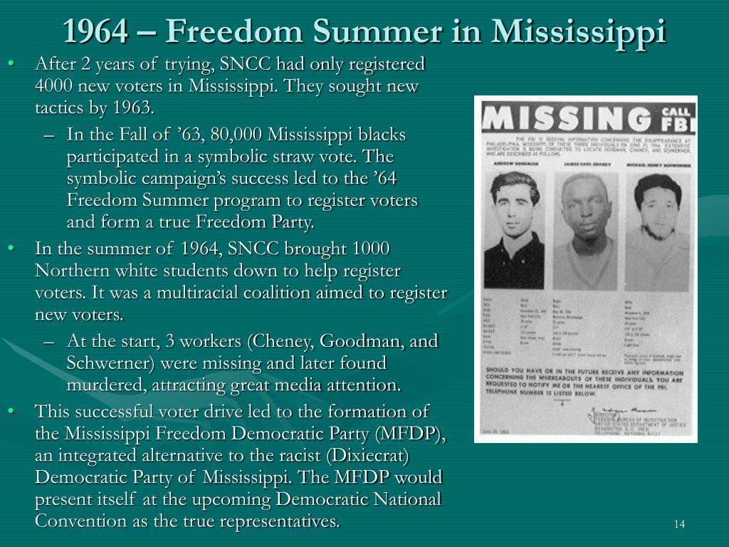 1964 – Freedom Summer in Mississippi