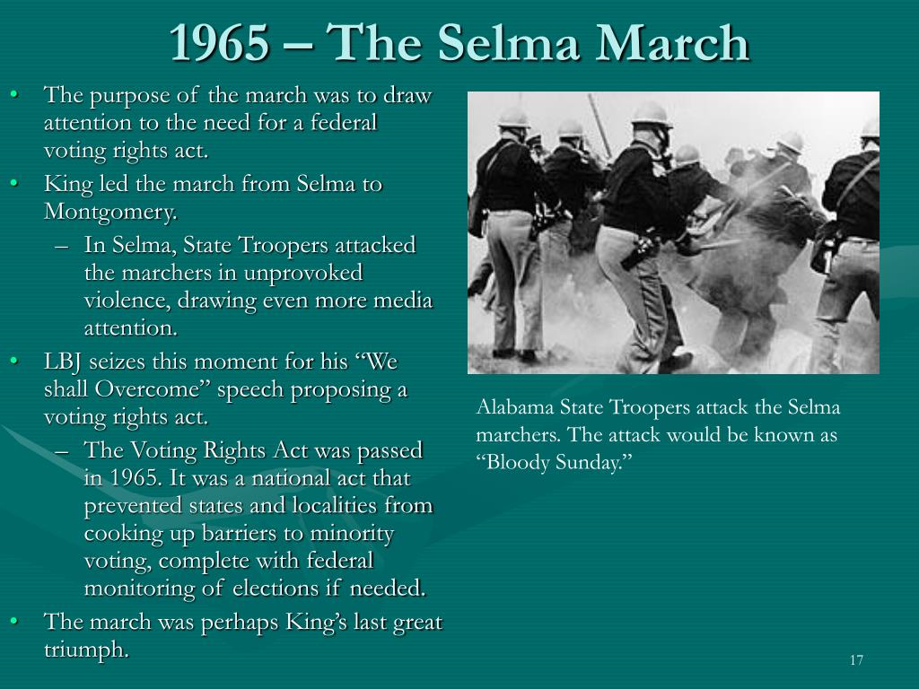 1965 – The Selma March