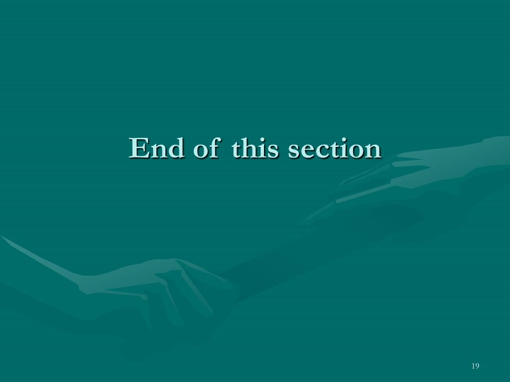 End of this section