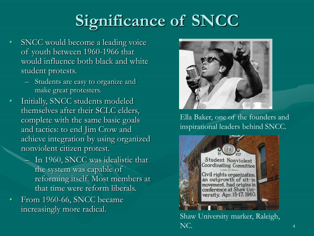 Significance of SNCC