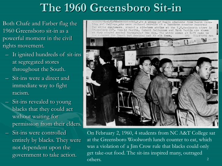 The 1960 greensboro sit in