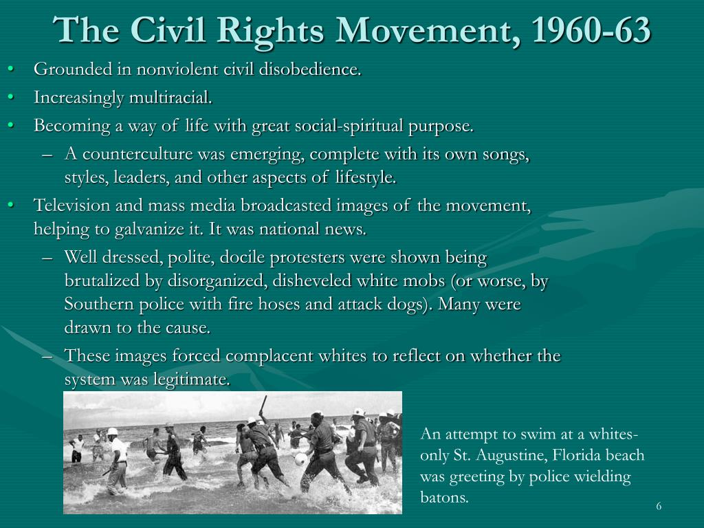 The Civil Rights Movement, 1960-63