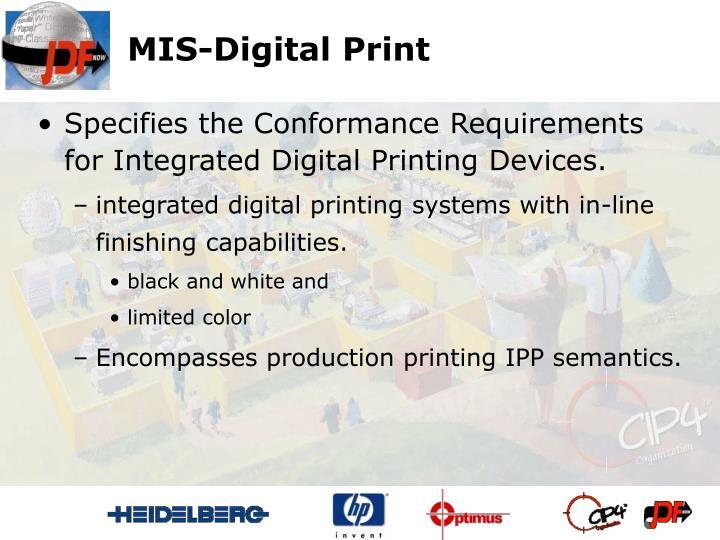 MIS-Digital Print
