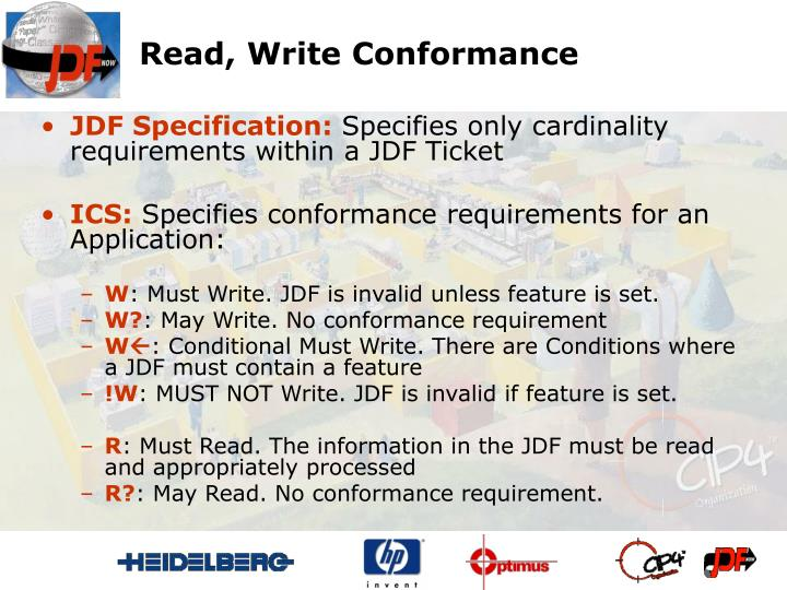 Read, Write Conformance