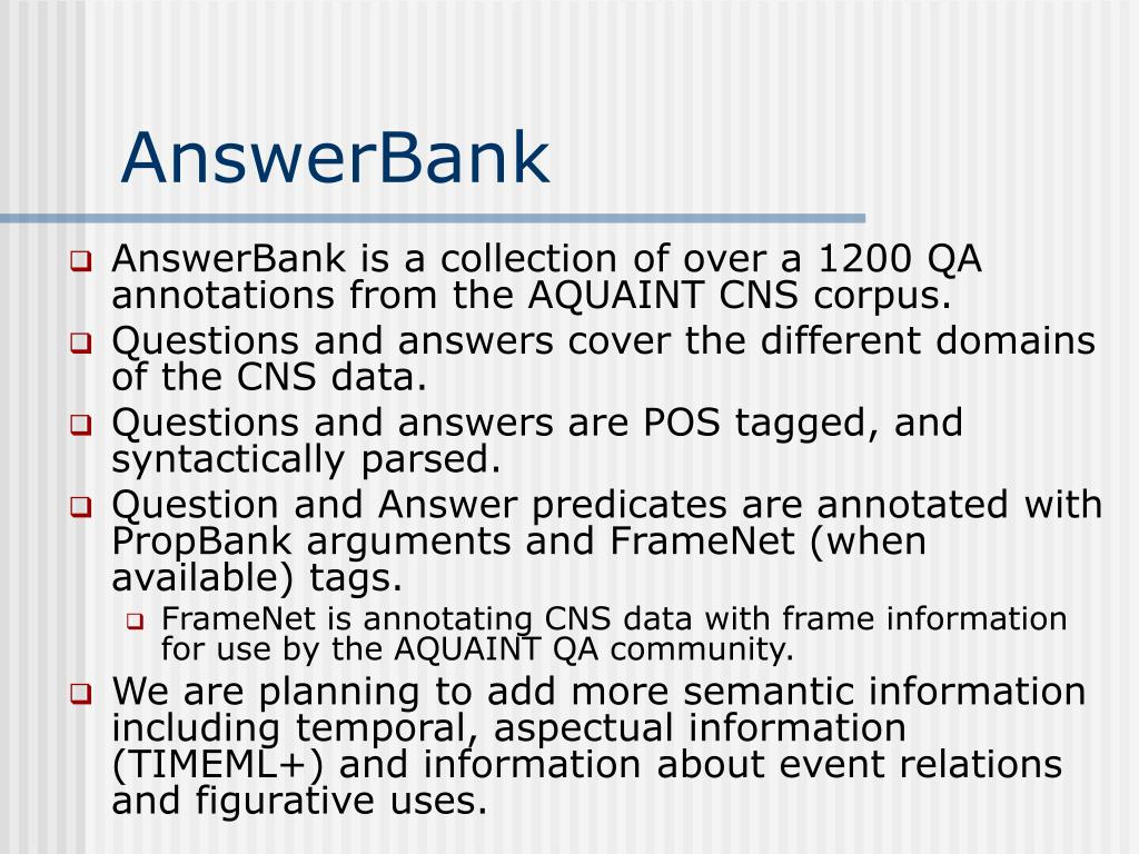 AnswerBank