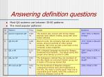 answering definition questions