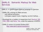 daml s semantic markup for web services