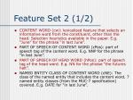 feature set 2 1 2