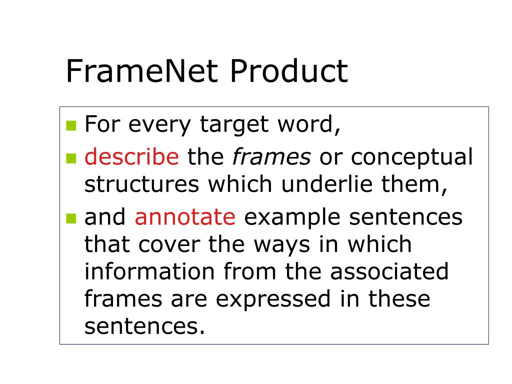 FrameNet Product