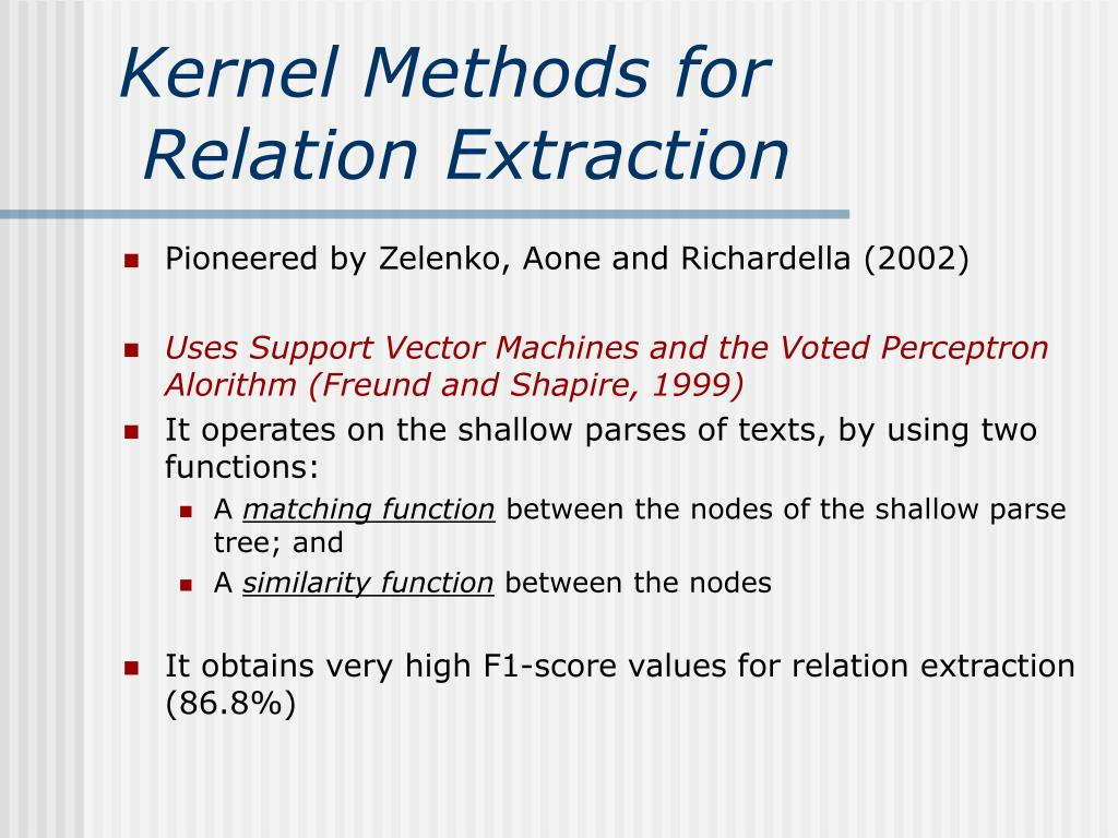 Kernel Methods for