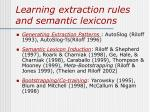 learning extraction rules and semantic lexicons