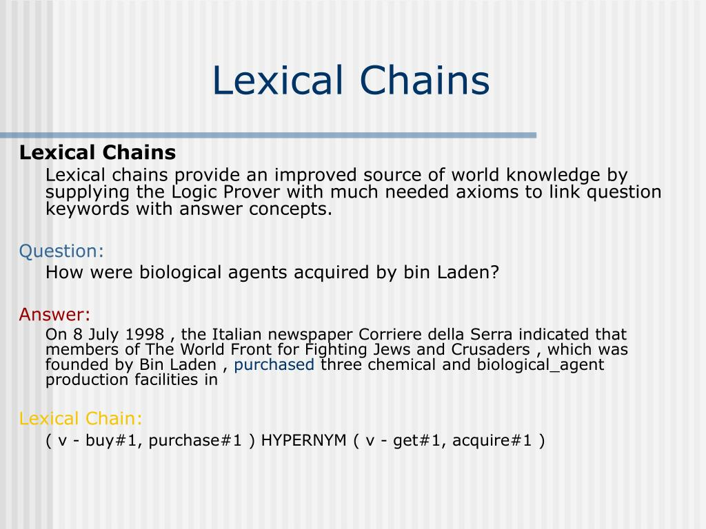 Lexical Chains