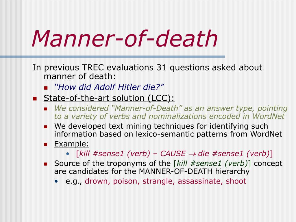 Manner-of-death