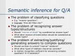 semantic inference for q a