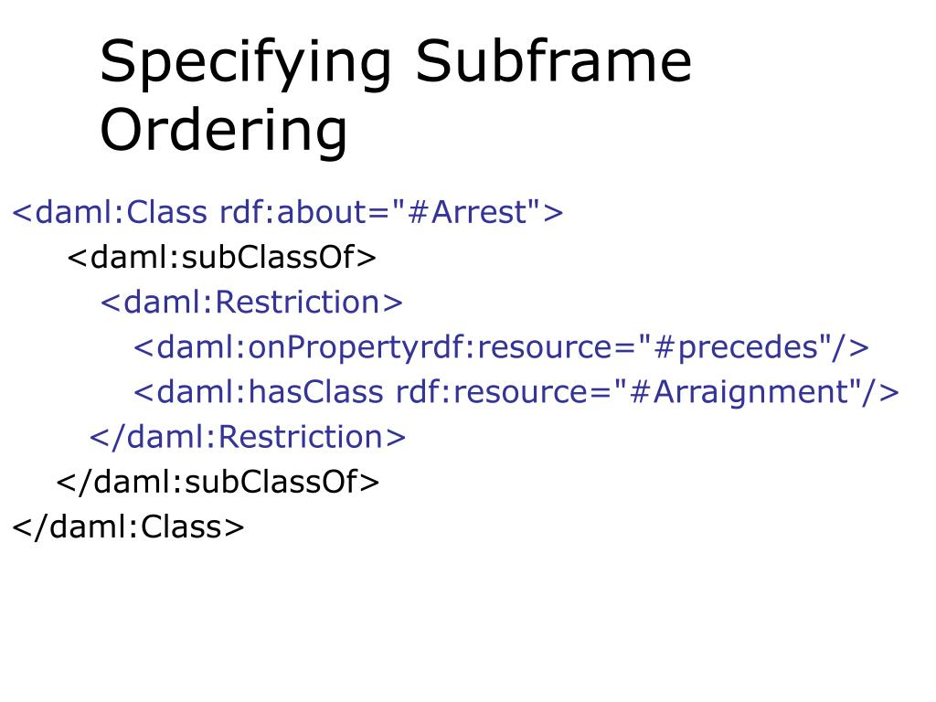 Specifying Subframe Ordering