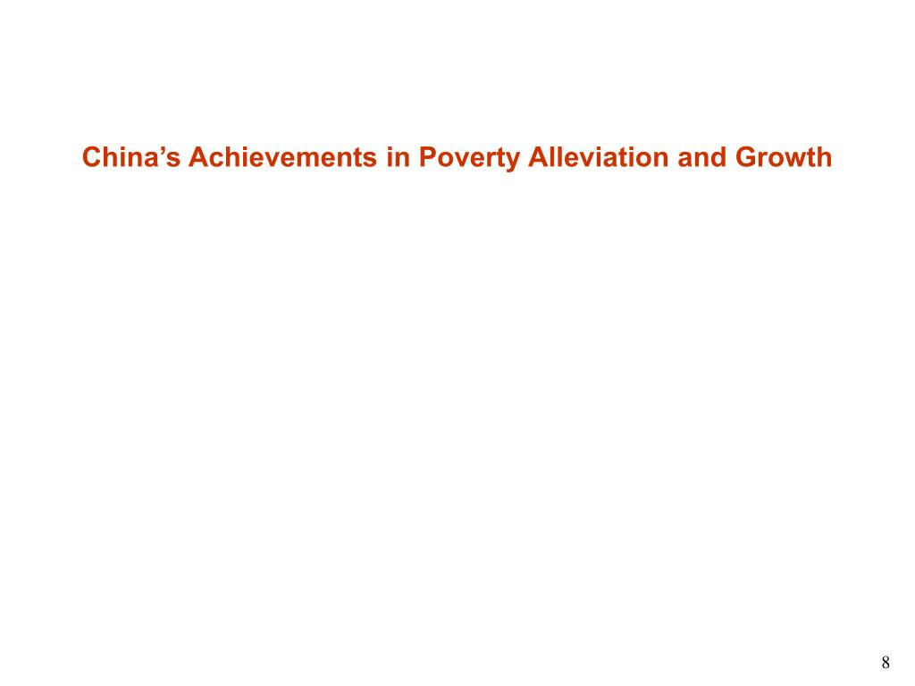 China's Achievements in Poverty Alleviation and Growth